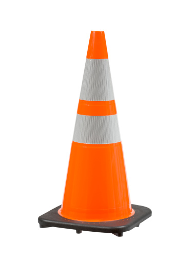 Traffic Cone「Perfect Orange Pylon Safety Cone High View Clipping Path」:スマホ壁紙(15)