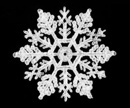 結晶「Snowflake on black」:スマホ壁紙(2)