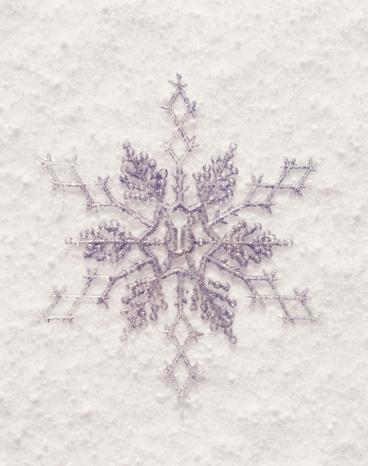 雪の結晶「Snowflake ornament」:スマホ壁紙(7)