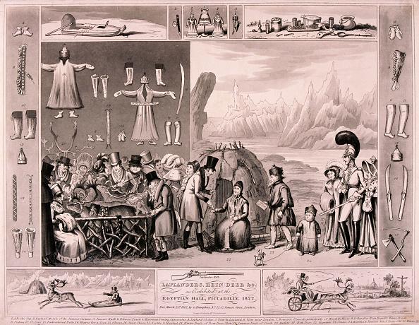 Reindeer Sledding「Laplanders on display in the Egyptian Hall, London, 1822. Artist: Isaac Cruikshank」:写真・画像(6)[壁紙.com]