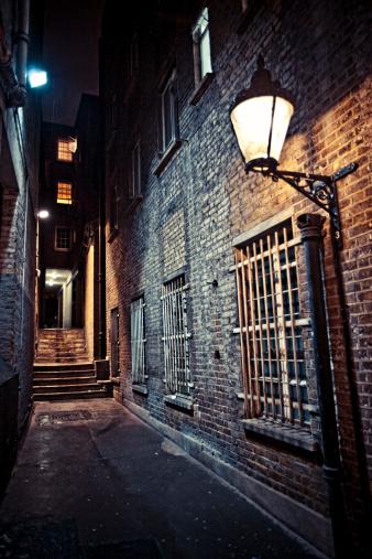 Brick Wall「Dark alley.」:スマホ壁紙(5)
