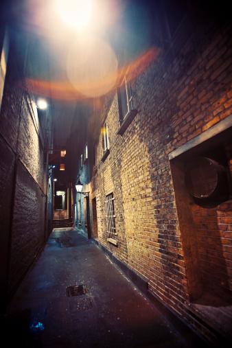 Brick Wall「dark alley」:スマホ壁紙(15)