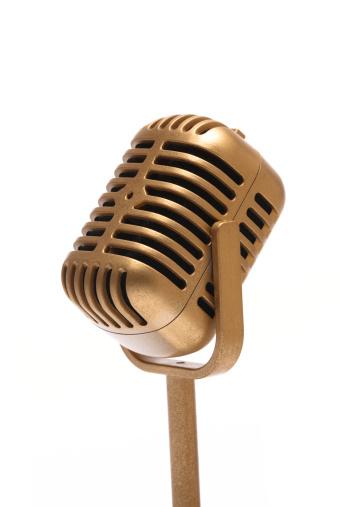 Gold Colored「Microphone」:スマホ壁紙(2)