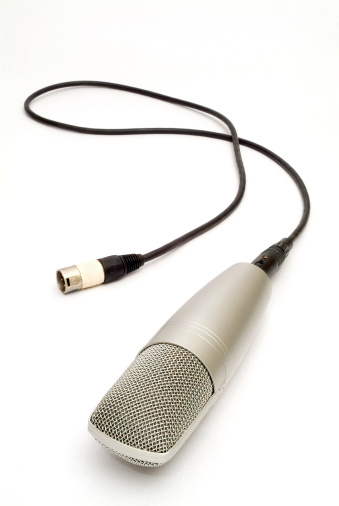 Rock Music「Microphone on white background」:スマホ壁紙(12)