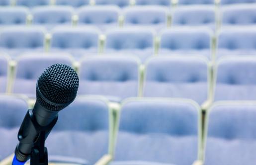 Politics「microphone in front of auditorium」:スマホ壁紙(7)