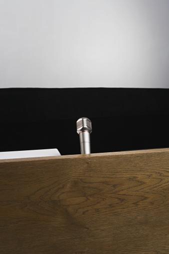 Auditorium「Microphone on podium」:スマホ壁紙(9)