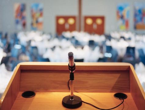 Lectern「Microphone on podium」:スマホ壁紙(17)