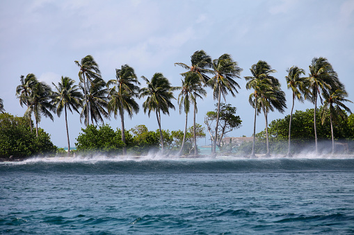 South Male Atoll「Maledives, South Male Atoll, surging billow arriving seashore on a stormy day」:スマホ壁紙(5)