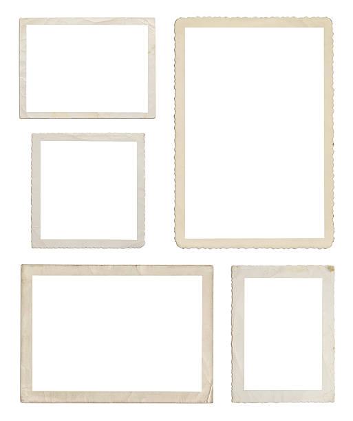 Set of different wood frames in white background:スマホ壁紙(壁紙.com)