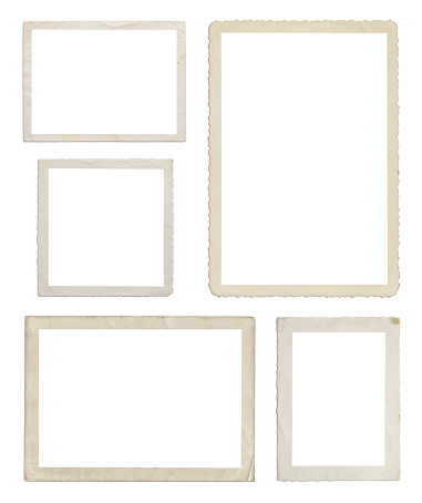 Art And Craft「Set of different wood frames in white background」:スマホ壁紙(7)