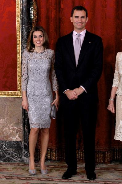 Rectangle「Spanish Royals Host Dinner in Honour of Peruvian President Ollanta Humala」:写真・画像(17)[壁紙.com]