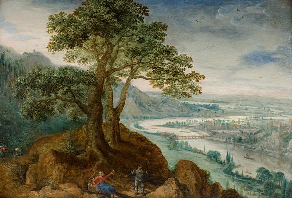 Oil On Wood「View Of Linz 1599」:写真・画像(1)[壁紙.com]
