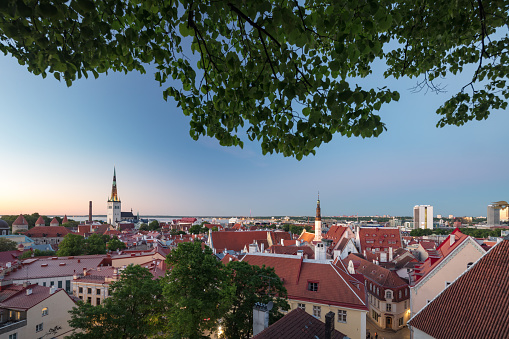UNESCO「Tallinn's Old Town with St Olaf's church's spire towering above it, Estonia」:スマホ壁紙(11)