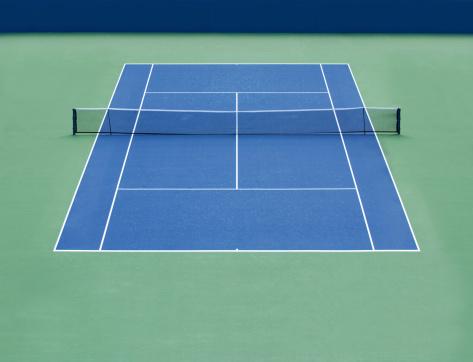 テニス「空のハードコート」:スマホ壁紙(6)