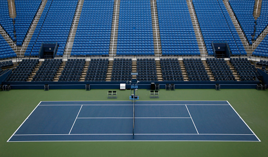Stadium「Empty tennis stadium with seats」:スマホ壁紙(6)