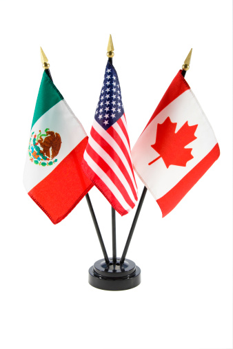 Mexico「Flags of Mexico, United States, and Canada」:スマホ壁紙(2)