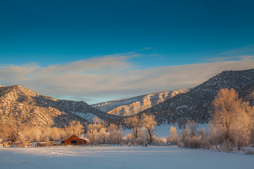 Horse「USA, Colorado, New Castle, Scenic view of winter landscape」:スマホ壁紙(3)