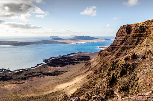 La Graciosa - Canary Islands「Isla de la Graciosa from the Risco de Famara.」:スマホ壁紙(10)