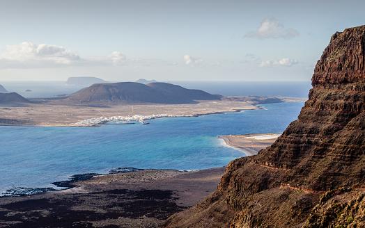 La Graciosa - Canary Islands「Isla de la Graciosa from the Risco de Famara.」:スマホ壁紙(11)