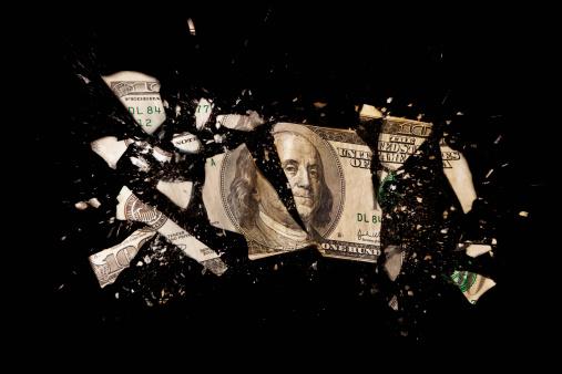 Destruction「Cracked one hundred dollar bill」:スマホ壁紙(17)