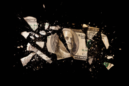 American One Hundred Dollar Bill「Cracked one hundred dollar bill」:スマホ壁紙(18)
