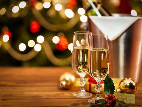 New Year「Holiday Champagne」:スマホ壁紙(19)