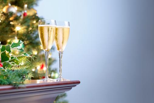 New Year「Holiday Champagne」:スマホ壁紙(5)