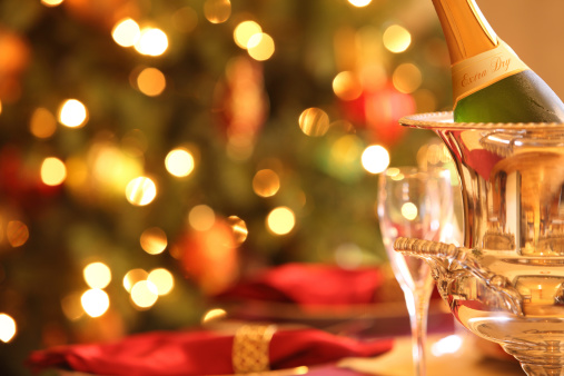 festive food for the New Year「Holiday Champagne」:スマホ壁紙(3)