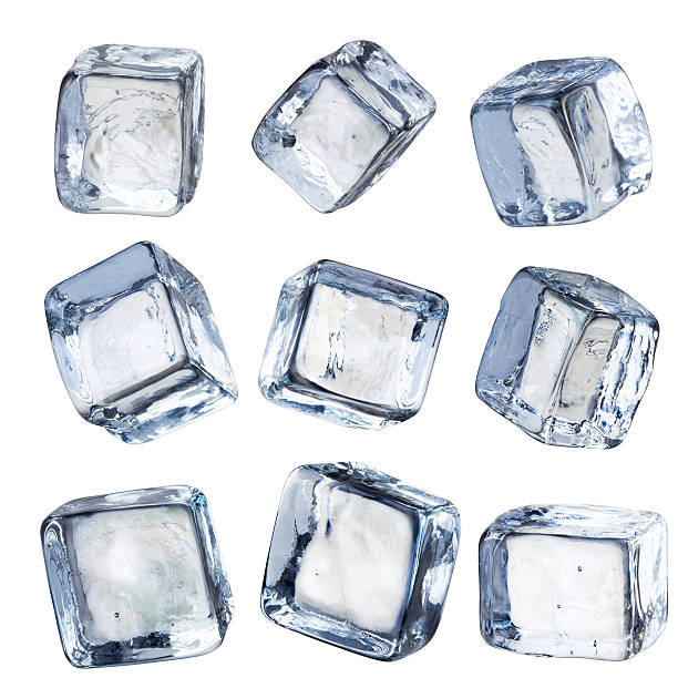 Nine Individual Square Ice Cubes Isolated with Clipping Path:スマホ壁紙(壁紙.com)