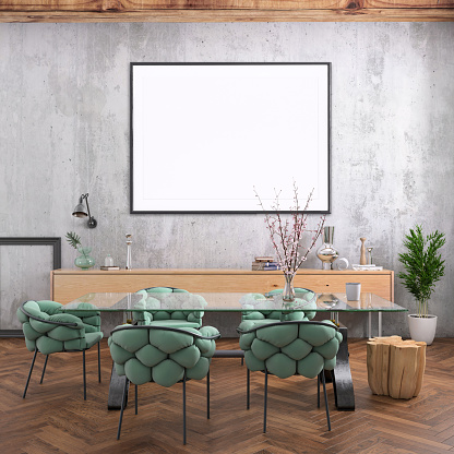 Template「Nordic style apartment dining room with picture frame template」:スマホ壁紙(19)