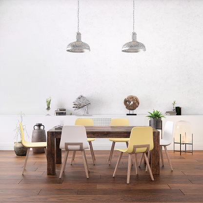 Dining「Nordic style office with large team desk」:スマホ壁紙(6)