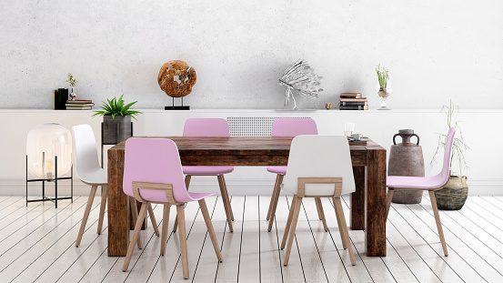 Dining Table「Nordic style office with large team desk」:スマホ壁紙(16)