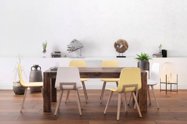 Nordic style office with large team desk:スマホ壁紙(壁紙.com)