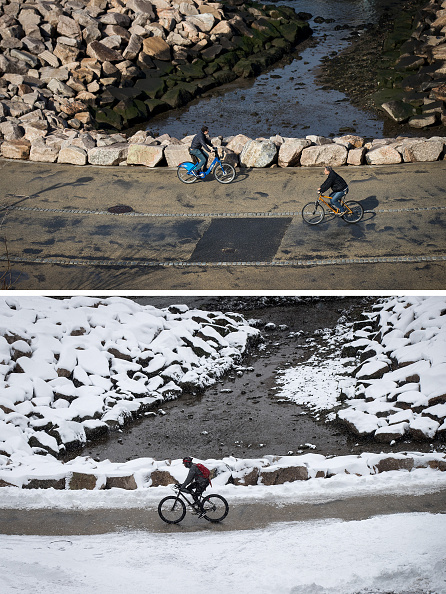 Drew Angerer「From Balmy To Snow Storm: Extreme 48-Hour Weather Swing In New York City」:写真・画像(10)[壁紙.com]