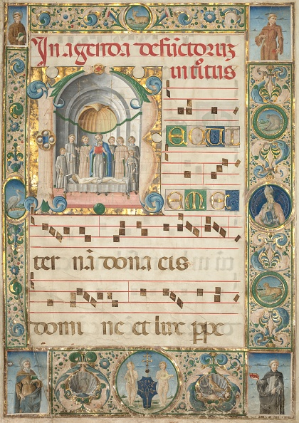 Manuscript「Leaf From A Gradual: Initial (R) With Mass For The Dead (Recto)」:写真・画像(17)[壁紙.com]