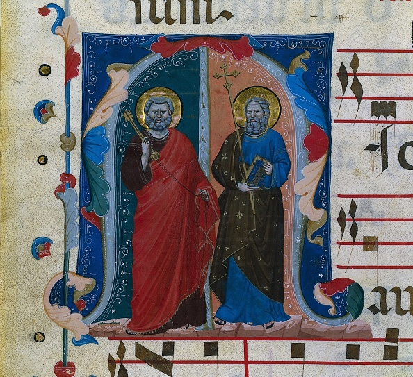 Circa 14th Century「Leaf From A Gradual With Historiated Initial (M): Ss. Peter And Andrew」:写真・画像(17)[壁紙.com]