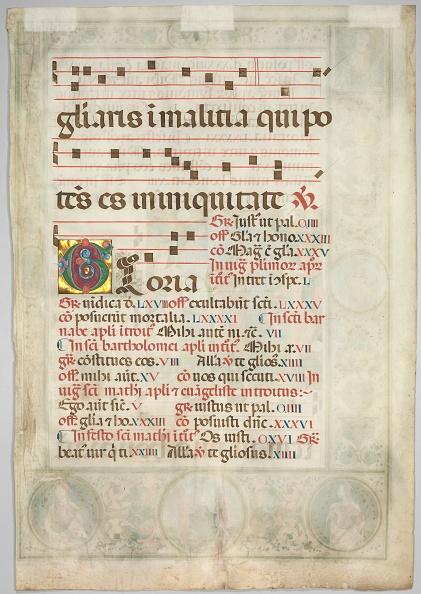 Manuscript「Leaf From A Gradual: Decorated Initial (Verso)」:写真・画像(3)[壁紙.com]