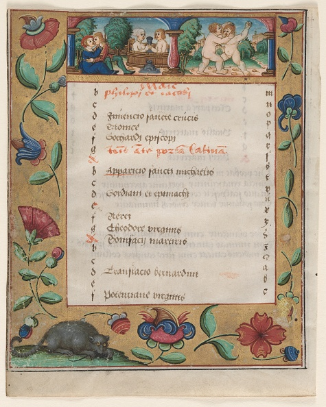 Manuscript「Leaf From A Psalter And Prayerbook: Calendar Page With Labors (Verso)」:写真・画像(17)[壁紙.com]