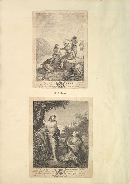Jesus Christ「Leaf From Aedes Walpolianae Mounted With Two Prints: (A): Three Soldiers; (B)」:写真・画像(11)[壁紙.com]