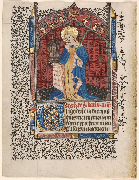 Tempera Painting「Leaf From A Book Of Hours: St. Barbara (6 Of 6 Excised Leaves)」:写真・画像(6)[壁紙.com]