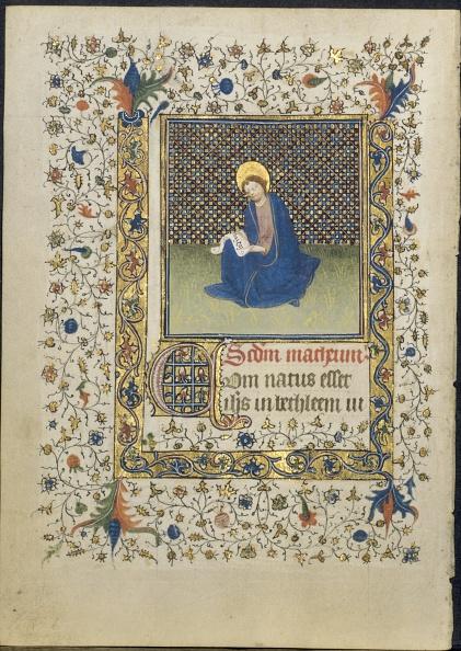 Manuscript「Leaf From A Book Of Hours: St. Matthew」:写真・画像(13)[壁紙.com]