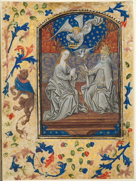 Tempera Painting「Leaf From A Book Of Hours: Virgin And Child Enthroned」:写真・画像(15)[壁紙.com]
