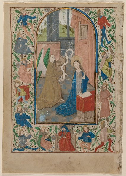 Manuscript「Leaf From A Book Of Hours: The Annunciation」:写真・画像(14)[壁紙.com]