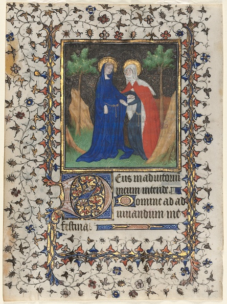 Tempera Painting「Leaf From A Book Of Hours: The Visitation」:写真・画像(7)[壁紙.com]