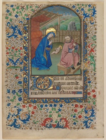 Manuscript「Leaf From A Book Of Hours: The Nativity (Recto) And Text (Verso)」:写真・画像(15)[壁紙.com]