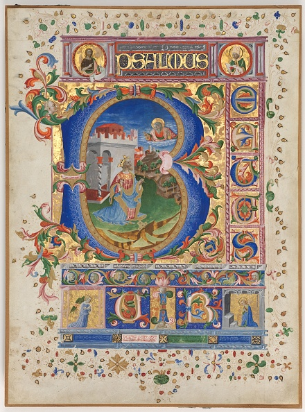 Tempera Painting「Leaf From A Psalter With Historiated Initial (B): King David」:写真・画像(17)[壁紙.com]