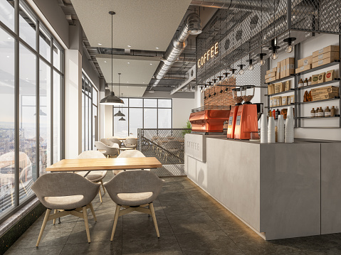 Industry「Coffee Shop Interior」:スマホ壁紙(19)