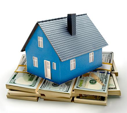 American One Hundred Dollar Bill「Blue house on bills」:スマホ壁紙(3)