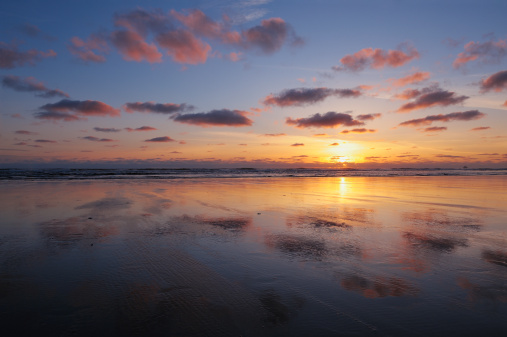 Cannon Beach「Sunset at Cannon Beach, Ecola State Park.」:スマホ壁紙(3)