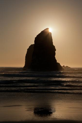 Cannon Beach「Sunset at Cannon Beach, Oregon」:スマホ壁紙(17)